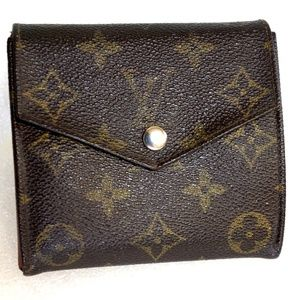 Auth LOUIS VUITTON Trifold Wallet Organizer 8905AN
